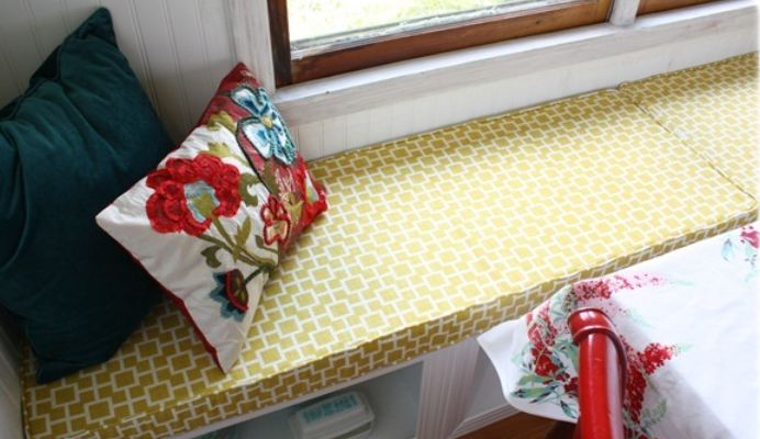 Myra's window seat cushion