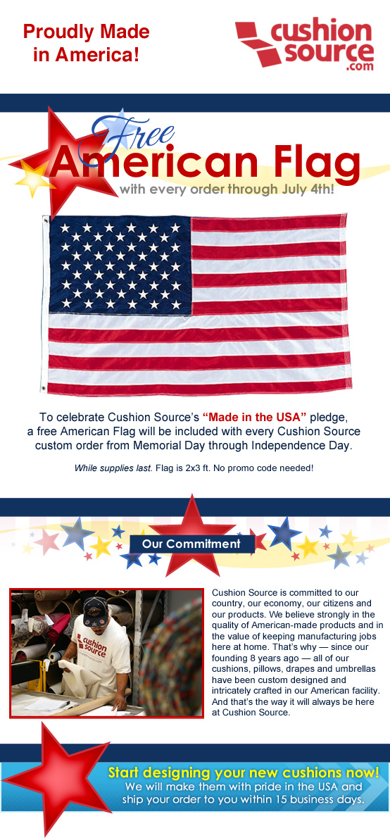 Cushion Source celebrates American-made products
