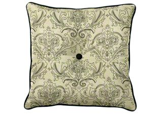 Designer throw pillow with button
