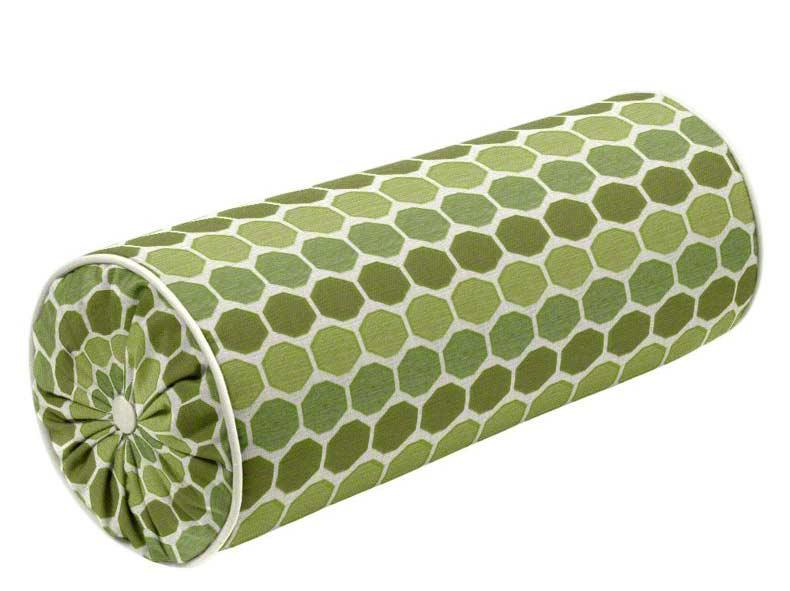 Designer shirred bolster pillow