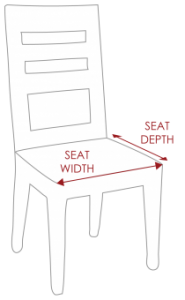 Measure the width and depth of the furniture's seat, where the cushion will be placed. Double-check your measurements, and write them down for reference during ordering.