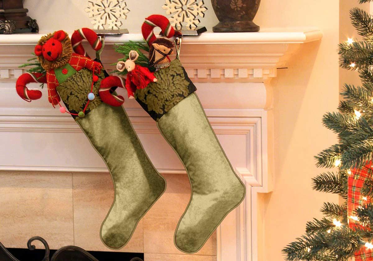 Silk Christmas Stockings