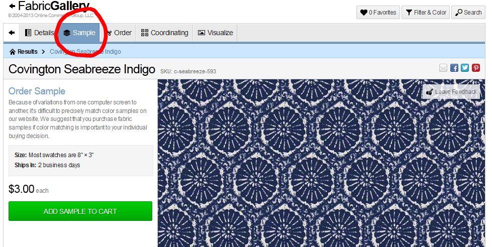 Fabric Samples: Gain confidence before ordering custom cushions