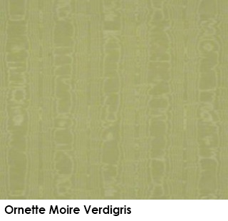 Ornette Moire Verdigris green fabric