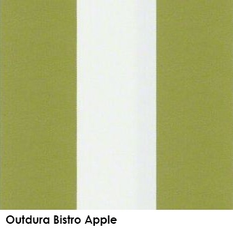Outdura Bistro Apple green fabric