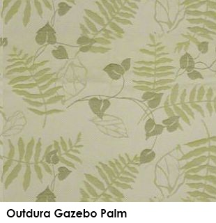 Outdura Gazebo Palm green fabric