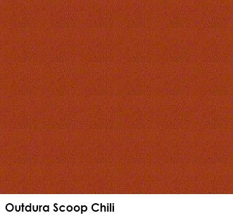 Outdura Scoop Chili outdoor fabric