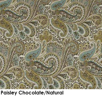 Paisley Chocolate Natural green fabric