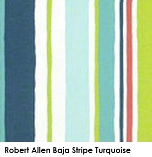Robert Allen Baja Stripe Turquoise green fabric