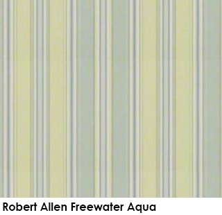 Robert Allen Freewater Aqua gray green fabric