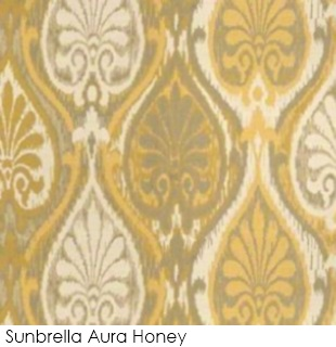 Neutral fabrics: Sunbrella Aura Honey