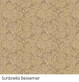 Neutral fabrics: Sunbrella Bessemer