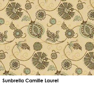 Sunbrella Camille Laurel green fabric