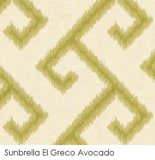 Neutral fabrics: Sunbrella El Greco Avocado