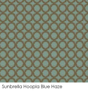Neutral fabrics: Sunbrella Hoopla Blue Haze