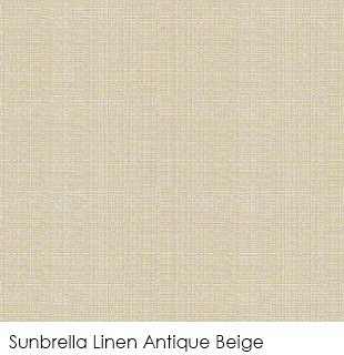 Neutral fabrics: Sunbrella Linen Antique Beige
