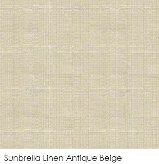 Neutral fabrics: Sunbrella Linen Antique Beige