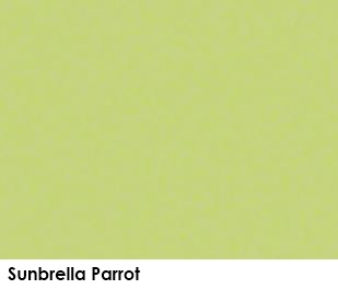 Sunbrella Parrot green fabric