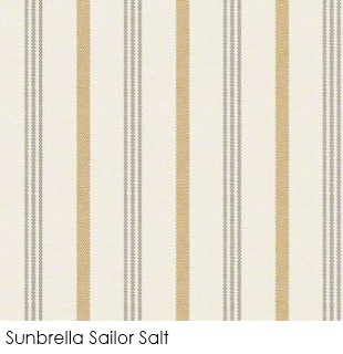 Neutral fabrics: Sunbrella Sailor Salt
