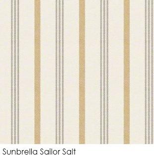 Neutral fabrics: Sunbrella Sailor Salt