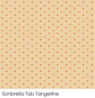 Neutral fabrics: Sunbrella Tab Tangerine