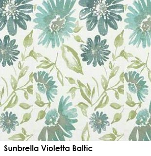 Sunbrella Violetta Baltic green fabric