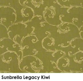 Sunbrella Legacy Kiwi green fabric