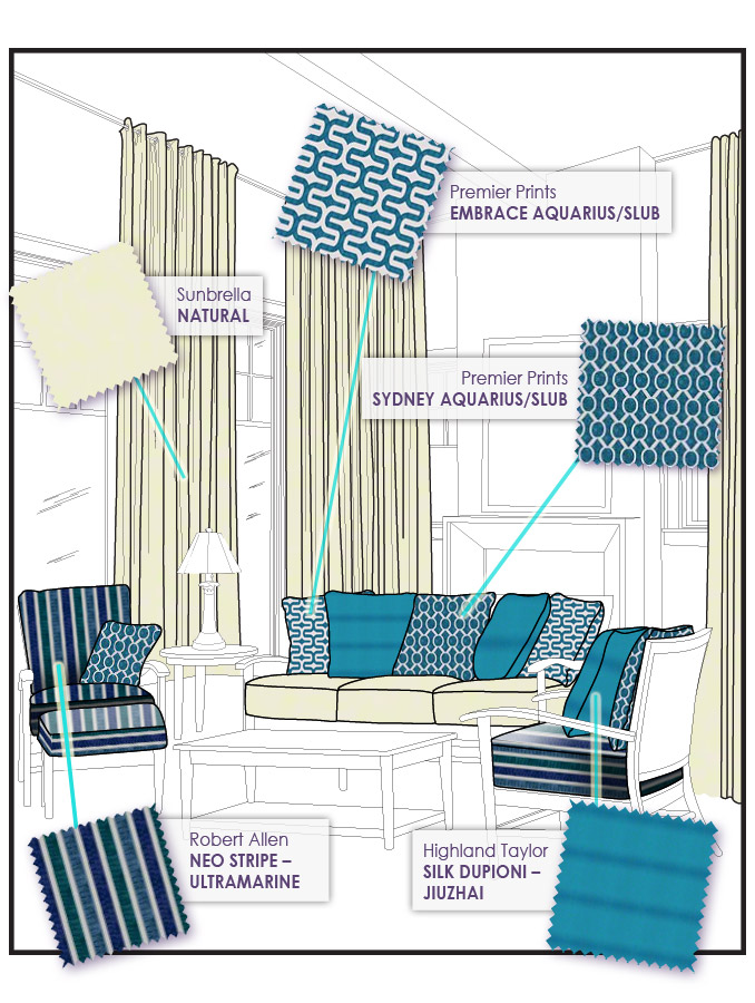 Turquoise Fabric Celebrates Spring