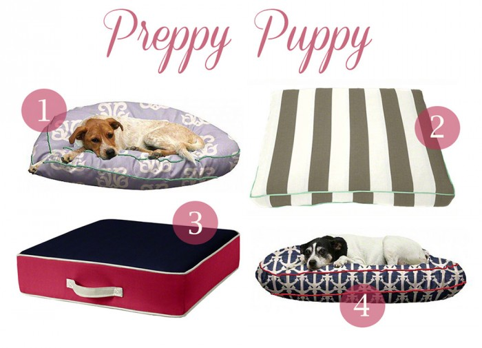 Preppy Puppy Dog Beds