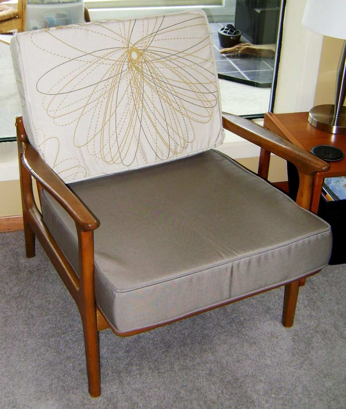 sunbrella mid-century chair cushion