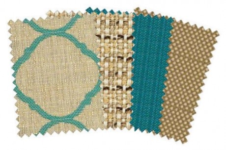 From left to right: Accord Jade, Jive Sparrow, Spectrum Peacock, and Sailcloth Sisal.