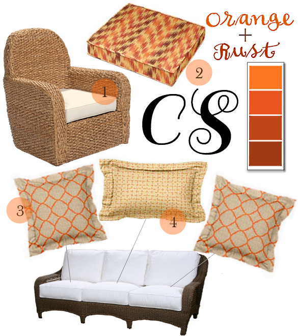 Orange and Rust Thanksgiving Cushions and Pillows