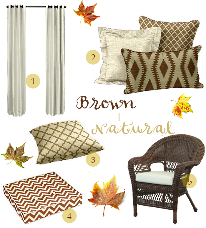 Thanksgiving Cushions and Pillows featuring Brown and Natural Fabrics