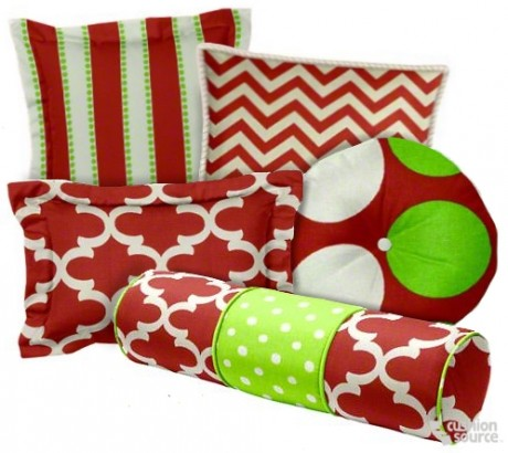 Red and Green are Christmas staples! Update your decor with fun patterns and bright shades of red and green.