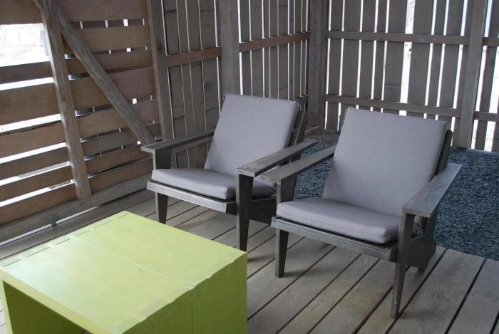 Sunbrella Taupe Adirondack Chair Cushions