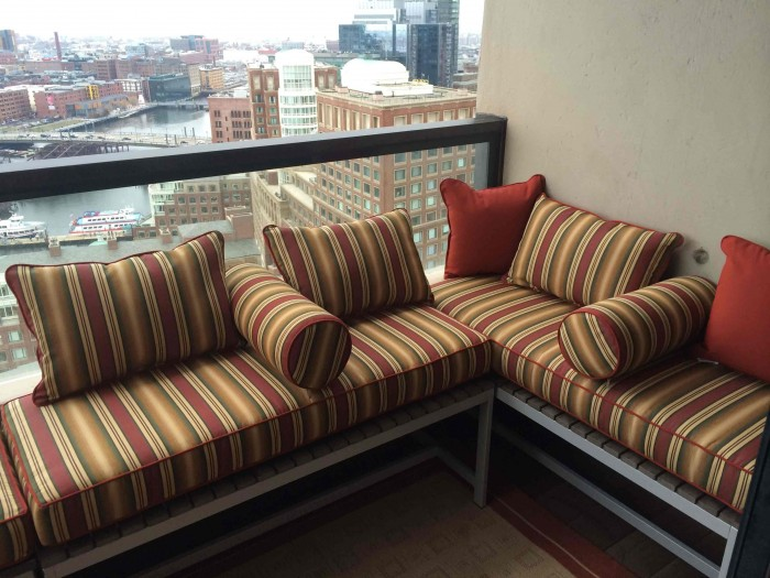 Balcony Terrace Deep Seating Sectional Cushions