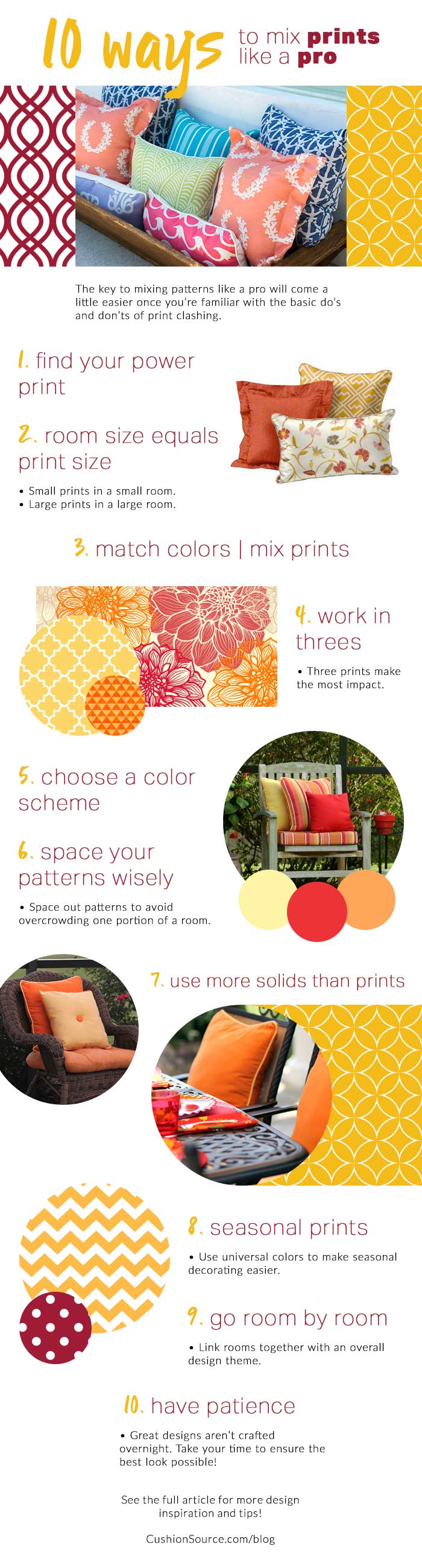 Mixing prints in your home doesn't have to be a chore. Learn how to mix prints like a pro.