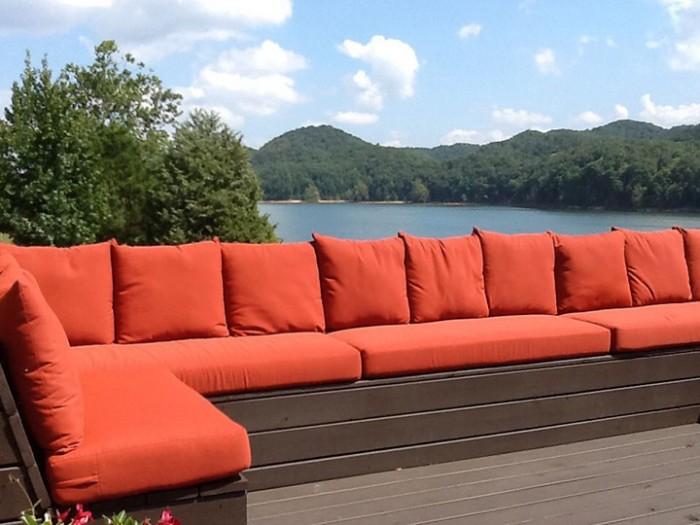 Sunbrella Terracotta Seat Cushions