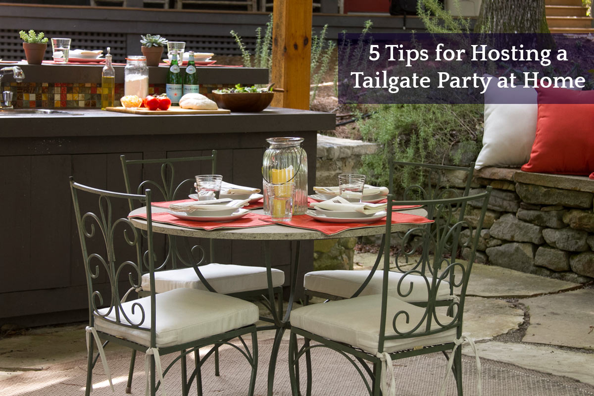5 tips for hosting a tailgate party at home cushion for Hosting a party at home