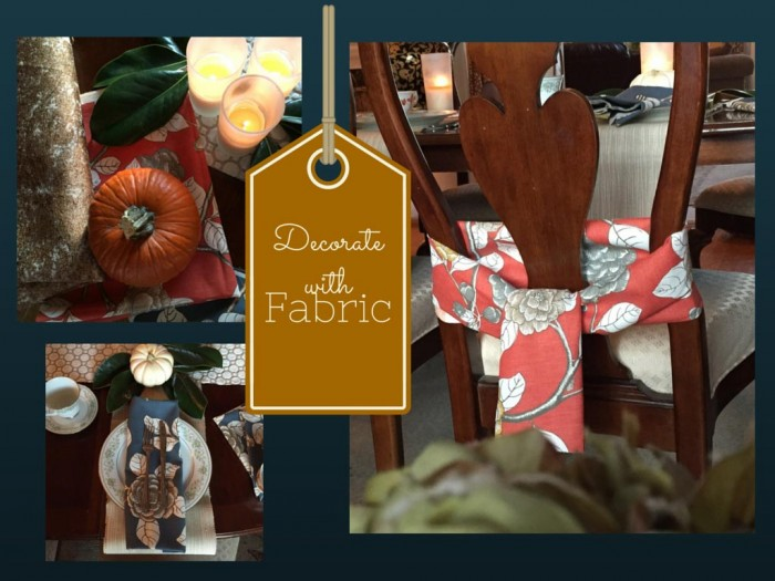 Thanksgiving Decorations with Fabrics