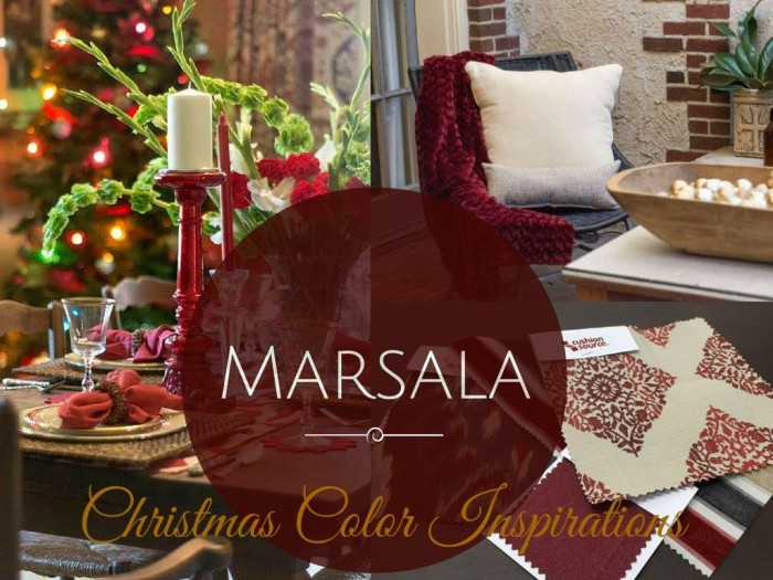 Marsala Christmas Color Inspirations