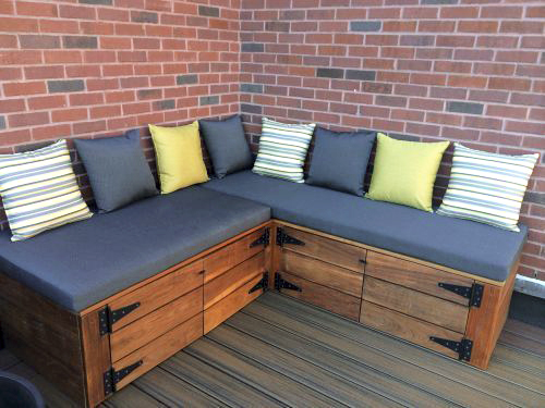 Outdoor Bench Nook Cushions