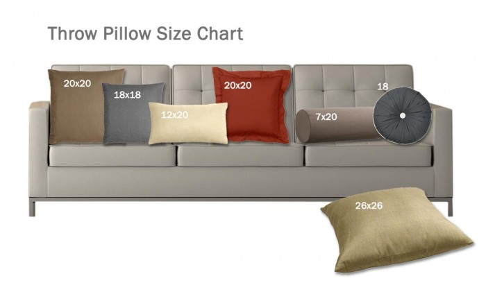 Standard Decorative Pillow Dimensions : Size Matters: What You Need to Know About Pillows Cushion Source Blog