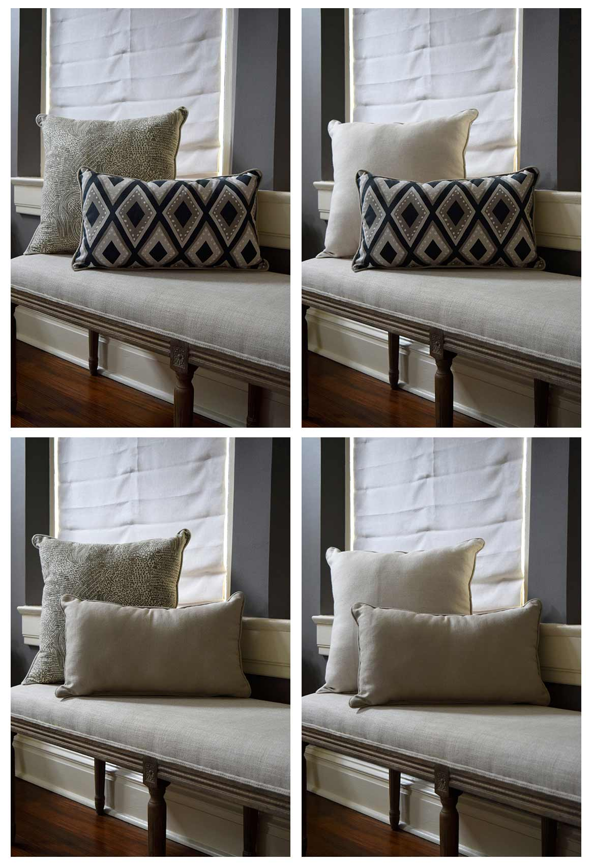 4 Looks with 2 Reversible Pillows