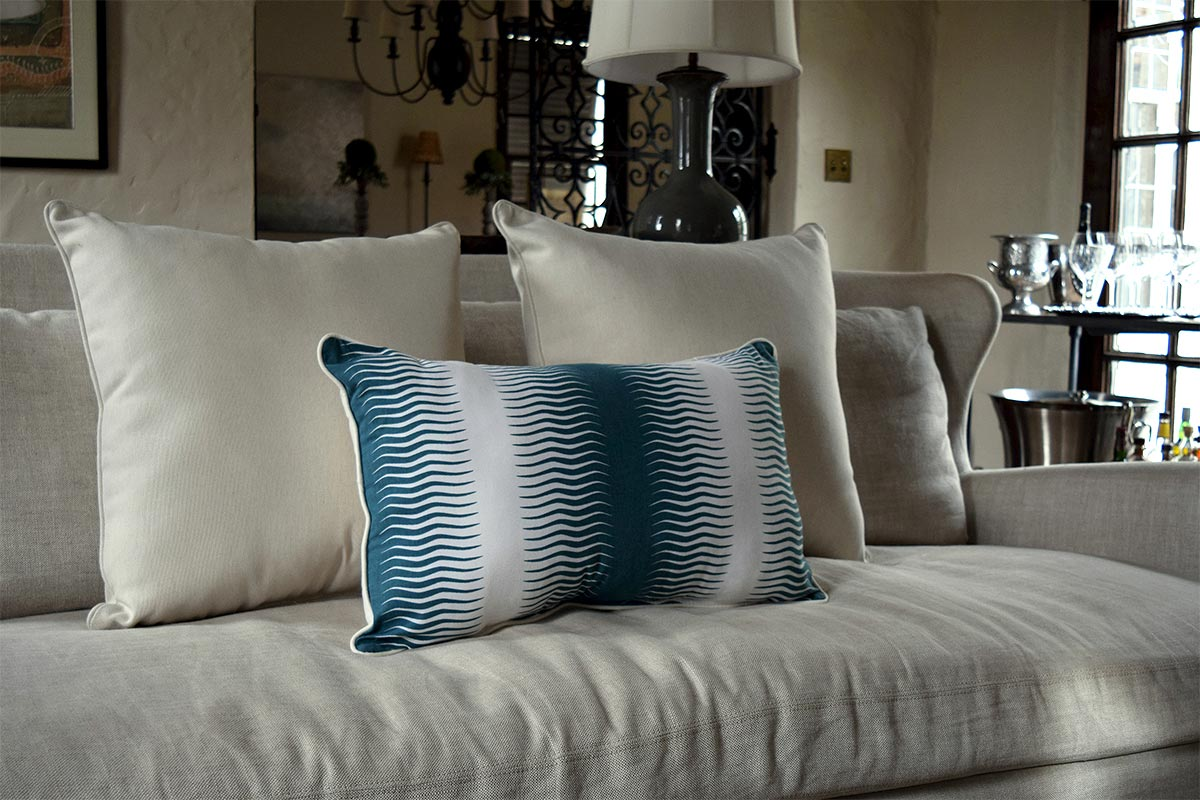 Reversible Pillow on Sofa