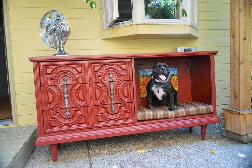 Repurposed Dresser Dog Bed