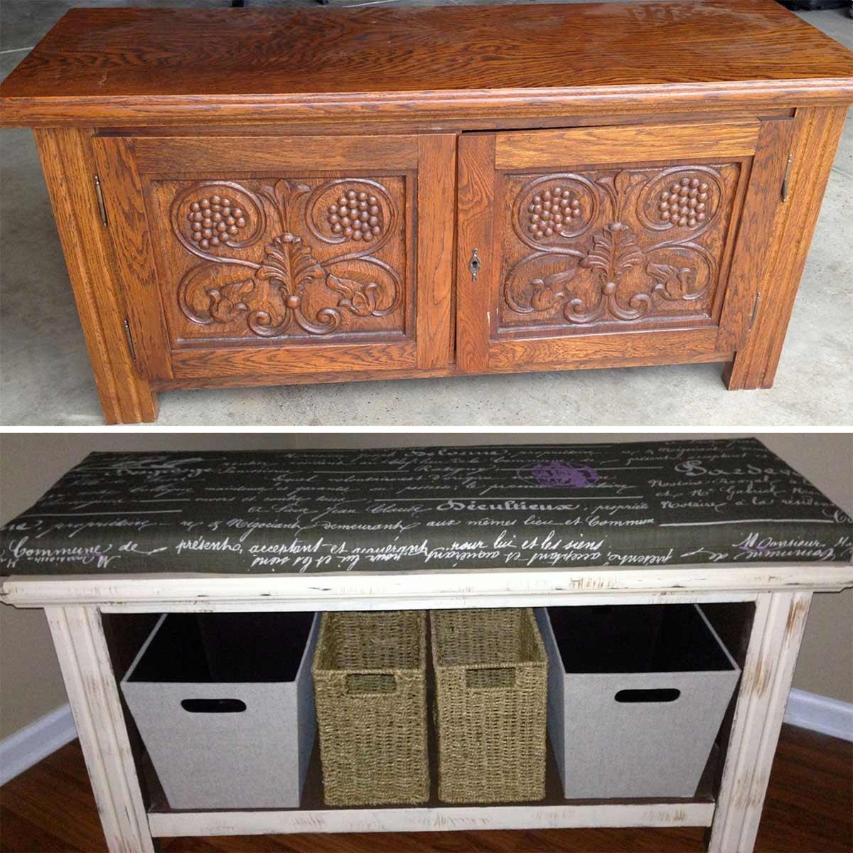 Repurposed Storage Bench