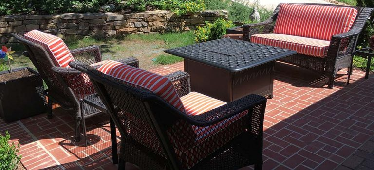 Sunbrella Shore Flame Outdoor Deep Seating Cushions