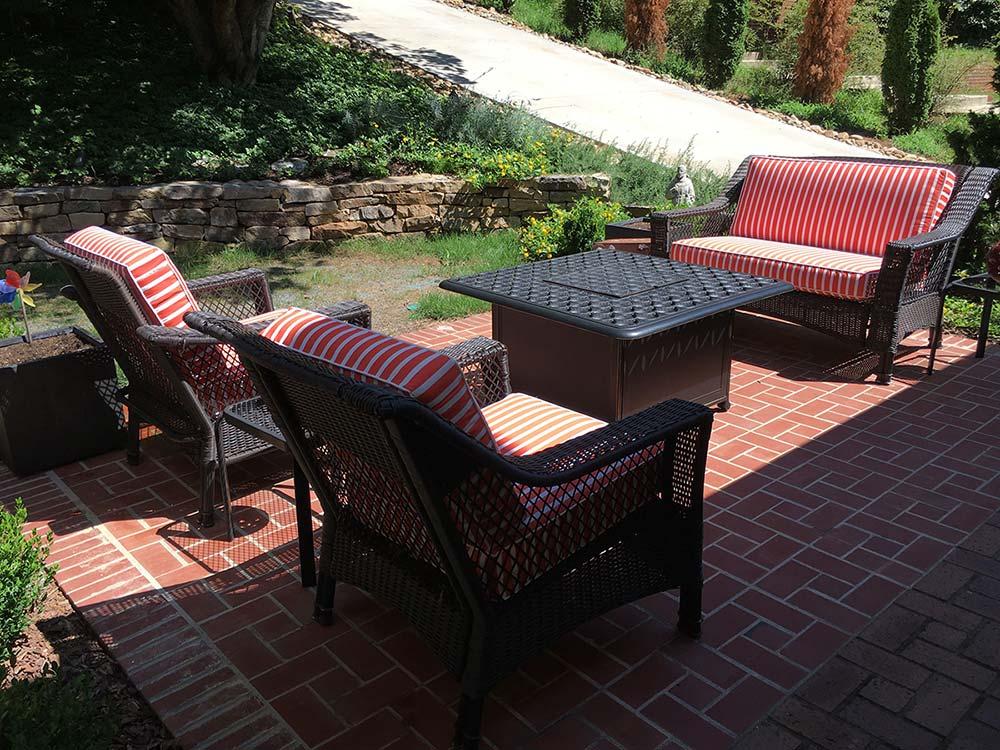Sunbrella Shore Flame Outdoor Deep Seating Cushions