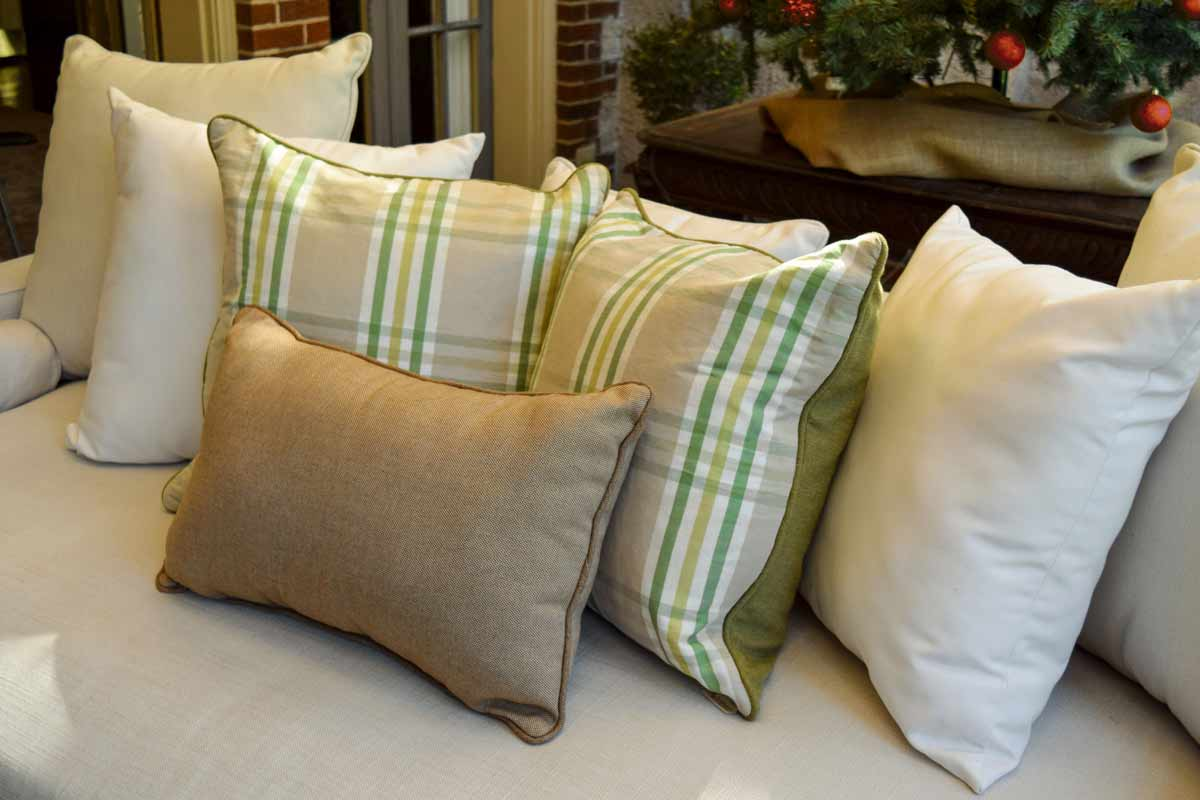 Plaid Christmas Pillows